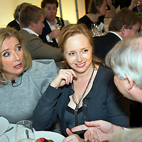 """""""Call My Wine Bluff"""", a high-spirited take on the classic TV game show with two celebrity panels pitting their wits against one another, but this time not over the meaning of words, but the origin of the wine. The event, hosted at Quaglino's restaurant in Mayfair, is a fund-raising event for Action Aid, London, UK..Photo shows Oscar winning actress Emma Thompson."""