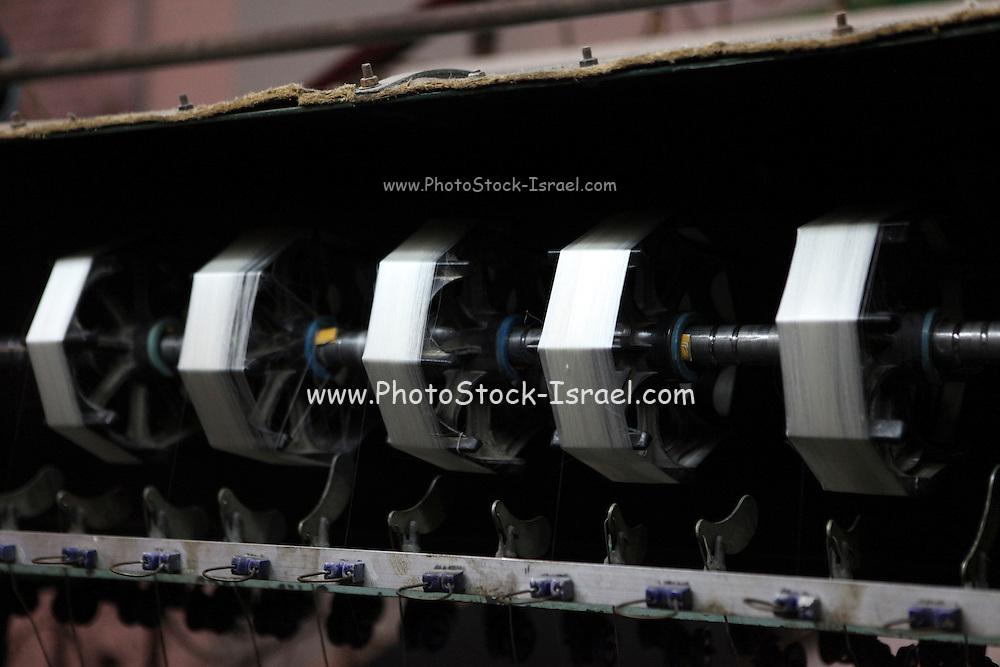 China, Beijing, Silk factory visitor Center, spinning machine