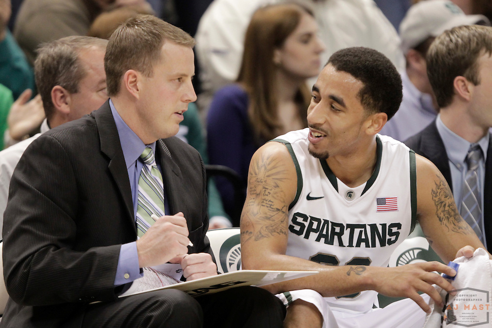 28 December 2011: Michigan State assistant coach Dane Fife as the Indiana Hoosiers played the Michigan State Spartans in a college basketball game in East Lansing, Mich.