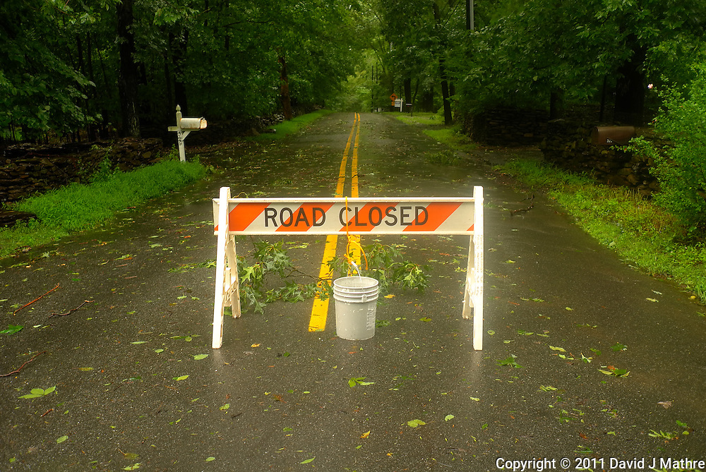 Road Closed. Hurricane Irene. Image taken with a Leica X1 camera.