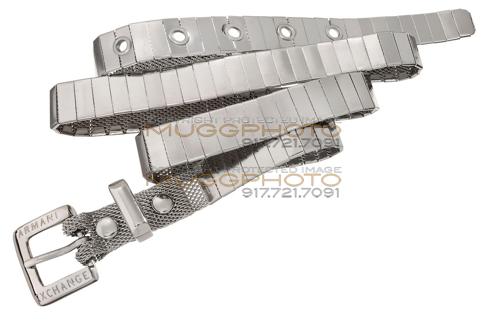 Armani Exchange Silver Belt