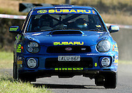 Cody Crocker & Greg Foletta.Subaru Impreza WRX.2003 Falken Rally of Queensland.Imbul State Forest, QLD.13th-15th of June 2003 .(C) Joel Strickland Photographics