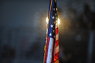 The U.S. flag at a Veterans Day program at Lafayette High in Oxford, Miss. on Thursday, November 8, 2012.