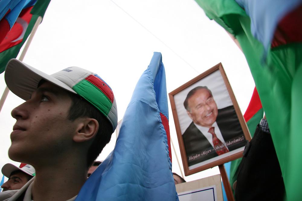 At a rally in Baku, Azerbaijan, on Thursday, Nov. 3, 2005.