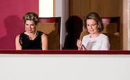 25-5-2016 BRUSSELS - Queen Maxima attends at the invitation of Her Majesty Queen Mathilde of Belgium Wednesday May 25 one of the final nights of the Queen Elisabeth Piano Competition in 2016 at the Centre for Fine Arts in Brussels. copyright Robin Utrecht<br /> 25-5-2016 BRUSSEL - Koningin Maxima woont op uitnodiging van Hare Majesteit Koningin Mathilde van Belgi&euml; woensdagavond 25 mei &eacute;&eacute;n van de finaleavonden van de Koningin Elisabethwedstrijd voor piano 2016 bij in het Paleis voor de Schone Kunsten in Brussel. copyright robin utrecht<br /> BRUSSEL - Koningin Maxima en koningin Mathilde tijdens de Koningin Elisabethwedstrijd voor piano 2016 in het Paleis voor de Schone Kunsten in Brussel.