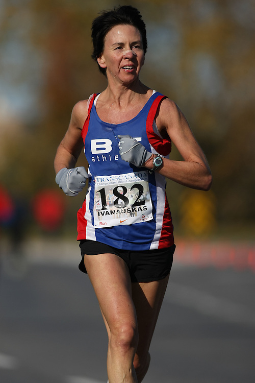 (Ottawa, ON---18 October 2008) RITA IVANAUSKAS competes in the 2008 TransCanada 10km Canadian Road Race Championships. Photograph copyright Sean Burges/Mundo Sport Images (www.msievents.com).
