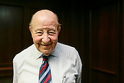 Manuel (Matty) Moroun, the billionaire owner of the Ambassador Bridge, poses in his office at Detroit International Bridge Co. in Warren, MI, Wednesday, February 7, 2007. (Photo by Jeffrey Sauger)