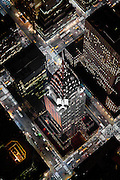 The Chrysler Building at an extreme angle from a helicopter