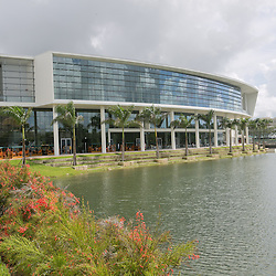 The beautiful new Student Activities Center sits on the shore of Lake Osceola.