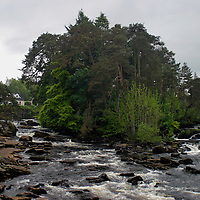 Europe, United Kingdom, Scotland, Stirlingshire, Killin. Falls of Dochart.