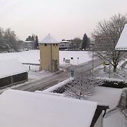 Salzburg Groeden Winter roofs covered in snow