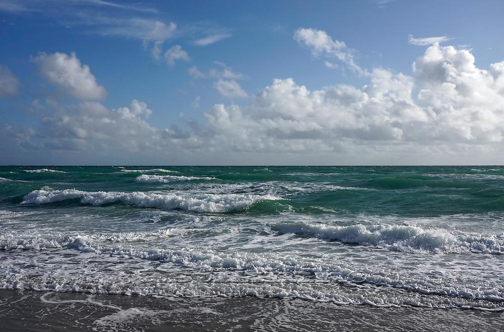Big waves of Atlantic Ocean.