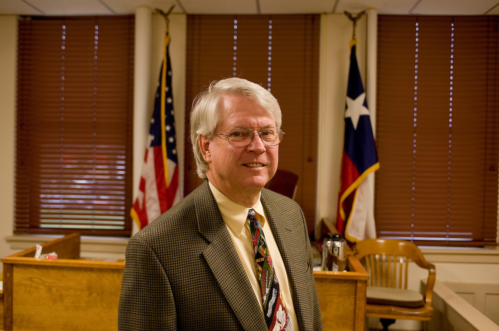 Republikaner und District Attorney und Ochiltree County Attorney Bruce Roberson im Gerichtssaal (Democratic County Court Ochiltree) von Perryton..Republikaner-Hochburg Perryton, Texas. ..© Stefan Falke