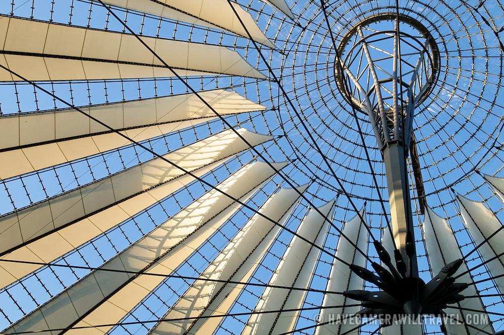 Roof of Atrium in the Sony Center at Potsdamer Platz, Berlin