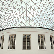 Interior Rotunda Wide Ceiling View British Museum - London, UK