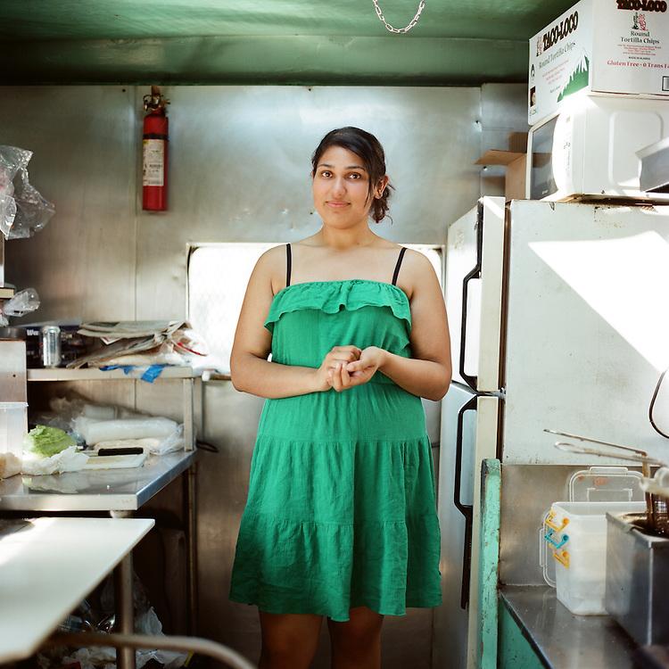 ANCHORAGE, ALASKA - 2012: Benny's Food Wagon.