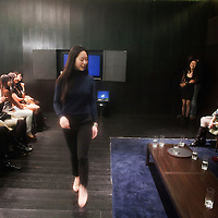 BEIJING, DECEMBER-15 :  Hong Kong-native Sara Jane Ho, 27, demonstrates how to walk gracefully on high heels during an etiquette class for rich Chinese women. In 2013 the Harvard Business School graduate will start  Institute Sarita, a boutique finishing school offering courses in Mandarin for high prices . Ho plans  to teach affluent Chinese the ''importance of being finished'' . Ho learnt her skills at Institut Villa Pierrefeu, Switzerland's last traditional finishing school, where a six-week course covering skills including flower arranging, hostessing and table-setting costs around $20,000.  In China, many nouveau riche traveling abroad for the first time are aware they have cash but no class . They do think more about their international image. Boutique schools like Ho's may help to polish their appearance . ..