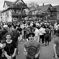 .The 2011 Mifflin Street Block Party was held Saturday April 30 on Mifflin Street in Madison.