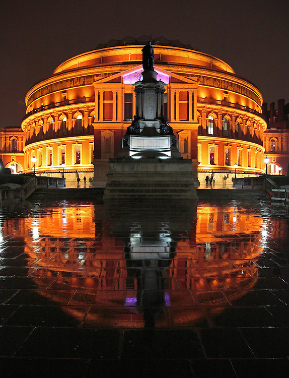 REFLECTION OF THE ROYAL ALBERT HALL, LONDON, UK