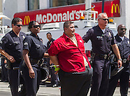 Minimum wage protests in Los Angeles 2014