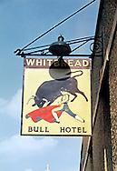 Pub Signs, The Bull Hotel, Tonbridge, Kent, Britain