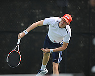 Ole Miss vs. Virginia in men's college tennis at the Palmer-Salloum in Oxford, Miss. on Wednesday, March 7, 2012. Virginia won 4-3.