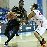 Erie BayHawks Forward CJ Leslie (11) drives pass Delaware 87ers defender Guard Bo Spencer (21) in the second half of a NBA D-league regular season basketball game between the Delaware 87ers (76ers) and the Erie BayHawks (Knicks) Tuesday, Feb. 11, 2014 at The Bob Carpenter Sports Convocation Center, Newark, DE