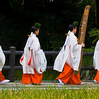 Kyoto, OCT  25: a participants on the rice harvest ceremony held on October 25 2009  in Fushimi Inari shrine in Kyoto, Japan