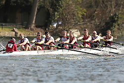 2012.02.25 Reading University Head 2012. The River Thames. Division 1. Vesta Rowing Club IM1 8+.