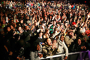 Audience at the Mos Def with Jay Electronica sold out Performance at The Nokia Theater on March 30, 2008