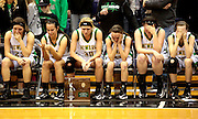 Newark Catholic girls Basketball team reacts after Saturdays loss to Reedsville East in the Regional Finals.