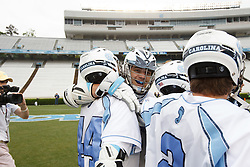 CHAPEL HILL, NC - APRIL 28: North Carolina Tar Heels playing the Virginia Cavaliers on April 28, 2013 at Kenan Stadium in Chapel Hill, North Carolina. North Carolina won the ACC Championship with a 16-13 win. (Photo by Peyton Williams/Getty Images)