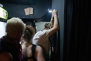 "Srdjan ""Gino"" Jevdjevic backstage at the DFK Club minutes before Kultur Shock goes on stage..."