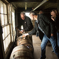 Contest winners from Australia visit and tour the Wild Turkey Distillery with Master Distiller Eddie Russell in Lawrenceburg, Ky., on 5/1/14