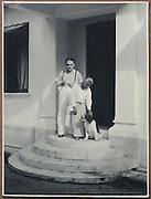 Lionel Wendt Collection.           6.5 x 8.5<br /> Lionel Wendt at his front door.