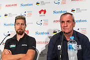 Media Conference with (L-R) Peter Sagan (Bora Hansgrohe), Santos Tour Down Under Race Director, Mike Turtur Tour Down Under, Australia on the 14 of January 2017 ( Credit Image: © Gary Francis / ZUMA WIRE SERVICE )