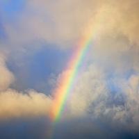 Powerful Rainbow stormy sky Ireland / rb017