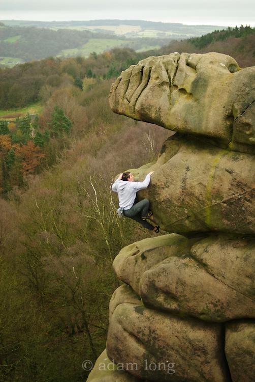 Alex Honnold soloing Meshuga, E9, Black Rocks, Peak District
