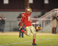 Lafayette High's Jake McPhail (21) vs. Senatobia in Oxford, Miss. on Friday, October 19, 2012. Lafayette High won 23-7.