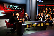 "Serbian President Boris Tadic on the PRVA TV show ""Stav Srbije"" (""The Position of Serbia""), April 20, 2012...Matt Lutton for The Wall Street Journal..SERBELECT"