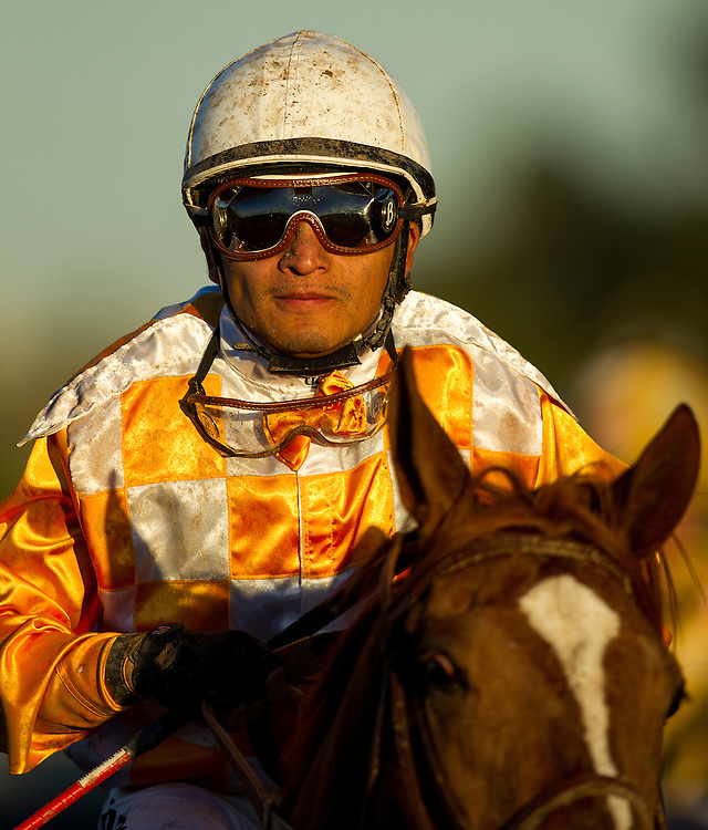 December 12, 2015:  Rafael Bejarano at the Starlet Stakes at Los Alamitos Race Track in Cypress California. Evers/ESW/CSM