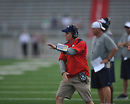Ole Miss assistant coach Gunter Brewer at Vaught-Hemingway Stadium in Oxford, Miss. on Saturday, August 13, 2011. (AP Photo/Oxford Eagle, Bruce Newman)
