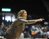 Ole MIss vs. Northwestern State coach Brooke Stoehr in women's college basketball action in Oxford, Miss. on Friday, November 16, 2012.