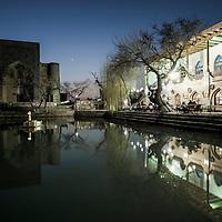 Bukhara, Uzbekistan 24 March 2012<br /> View of Labi-Hauz Ensemble during the sunset.<br /> PHOTO: EZEQUIEL SCAGNETTI