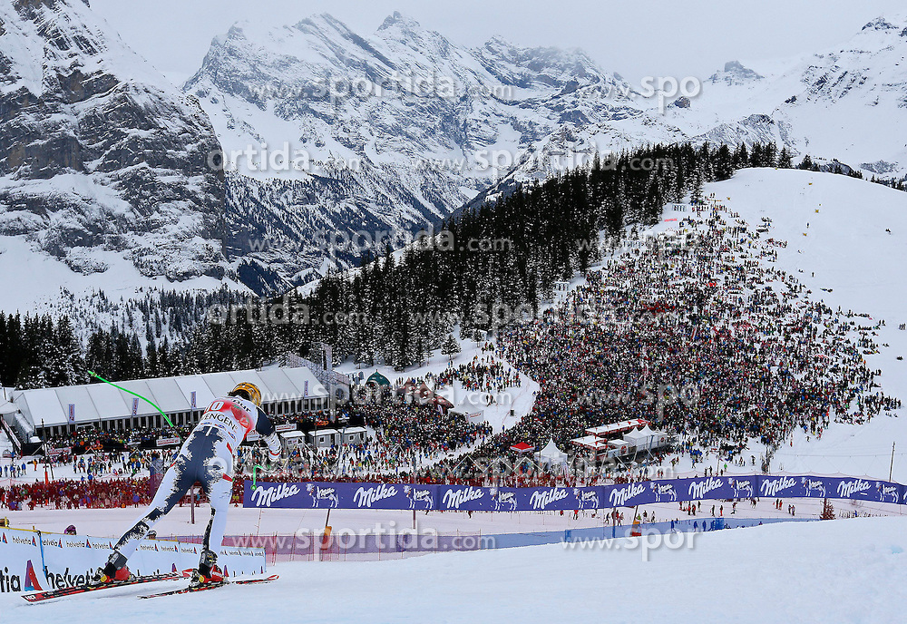 18.01.2014, Lauberhorn, Wengen, SUI, FIS Weltcup Ski Alpin, Wengen, Abfahrt, Herren, im Bild Max Franz (AUT) // in action during the downhill of the Wengen FIS Ski Alpine World Cup at the Lauberhorn in Wengen, Switzerland on 2014/01/18. EXPA Pictures &copy; 2014, PhotoCredit: EXPA/ Freshfocus/ Christian Pfander<br /> <br /> *****ATTENTION - for AUT, SLO, CRO, SRB, BIH, MAZ only*****