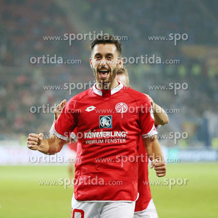 18.09.2015, Coface Arena, Mainz, GER, 1. FBL, 1. FSV Mainz 05 vs TSG 1899 Hoffenheim, 5. Runde, im Bild v.l.: Yunus Malli (MZ) // during the German Bundesliga 5th round match between 1. FSV Mainz 05 and TSG 1899 Hoffenheim at the Coface Arena in Mainz, Germany on 2015/09/18. EXPA Pictures &copy; 2015, PhotoCredit: EXPA/ Eibner-Pressefoto/ Neurohr<br /> <br /> *****ATTENTION - OUT of GER*****