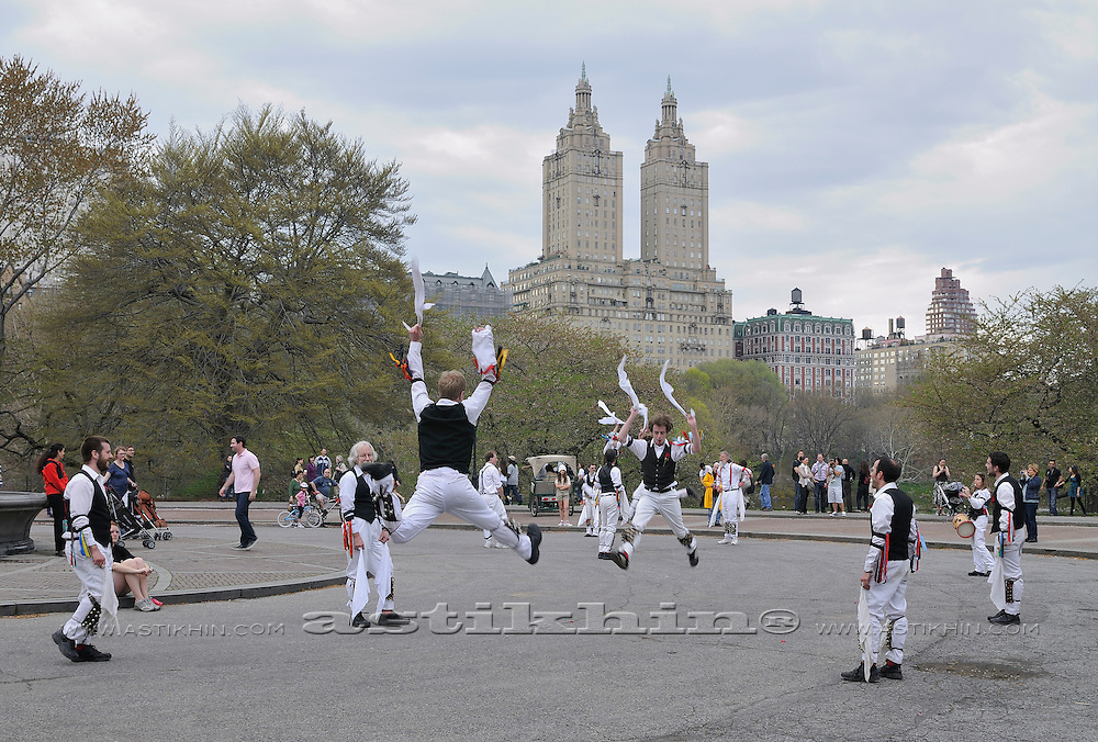 Morris Dancers in Central Park Manhattan.