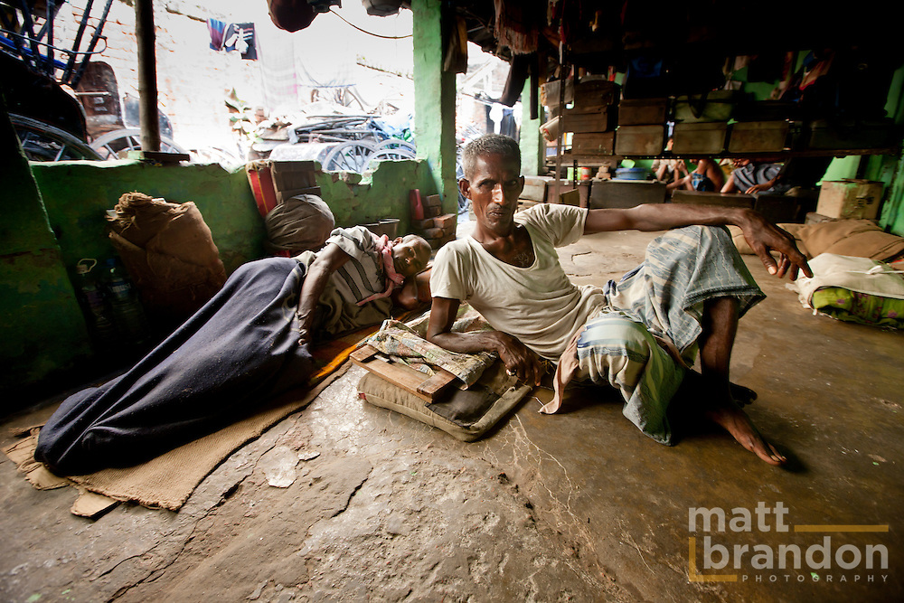 Other rickshaw pullers take days off either because of sickness or for a much needed rest