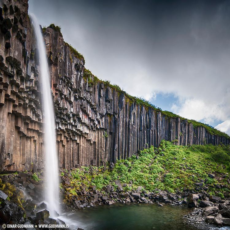 Svartifoss is a waterfall near Skaftafell in Southeast-Iceland.