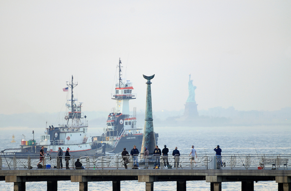 Tugboats in harbor of New York City